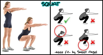 keep fit squat