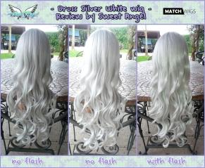 drossi silver white wig