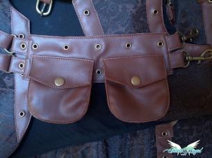 detail steampunk corset