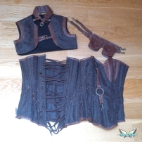 review steampunk corset