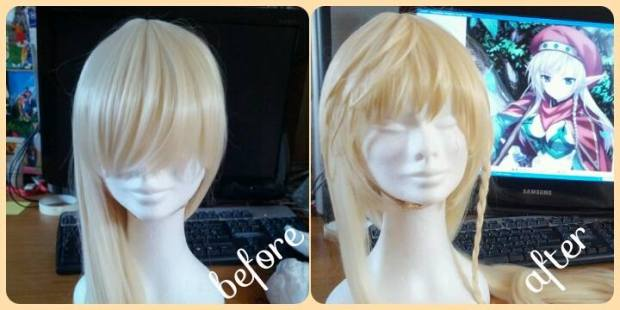 before after blonde wig