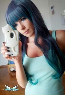 greygreen wig