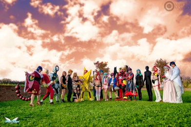Gurren Lagann cosplay group