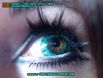 close up green lenses