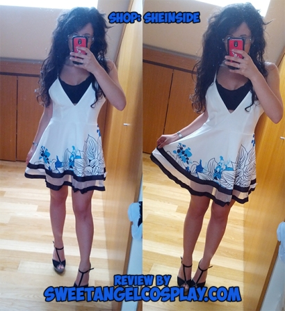 sheinside white spaghetti dress