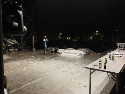 Lucca comics palco bagnato